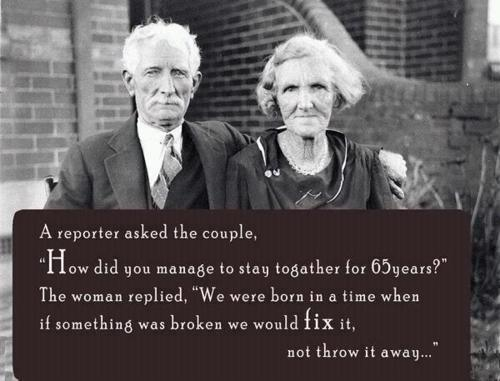 Marriage is a lifetime commitment!